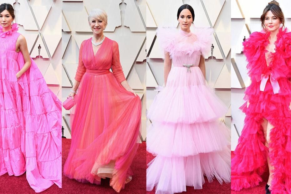 Vestidos rosas en la gala de los Oscars